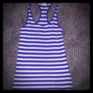 Adorable PINK Purple and White Stripe Racerback